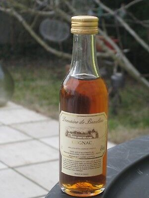 mignonnette OLD MINIATURE COGNAC mini bottle beaulieu  5 cl