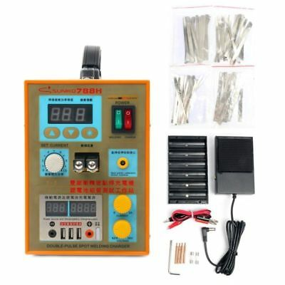 S788H-USB 110V LED Dual Pulse Spot Welder Battery Charger 800 A 0.1 - 0.2 mm