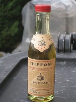 mignonnette OLD MINIATURE COGNAC mini bottle tiffon 3 cl