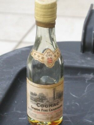 mignonnette OLD MINIATURE COGNAC mini bottle jullien 3 cl