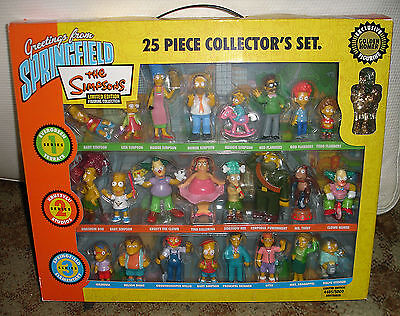 SIMPSONS Greetings from Springfield 25 Piece Collector's Set SERIES 1,2,3 Figure