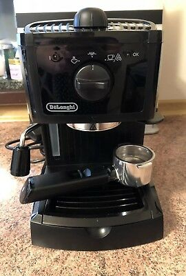 Delonghi Traditional Pump Espresso Coffee Machine - Black EC146.B