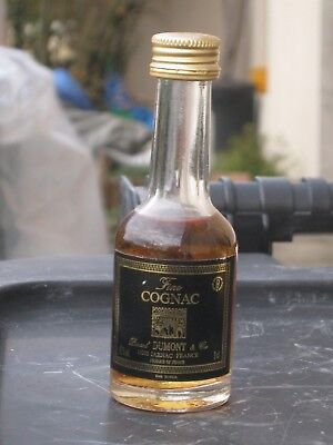 mignonnette OLD MINIATURE COGNAC mini bottle dumont  3cl