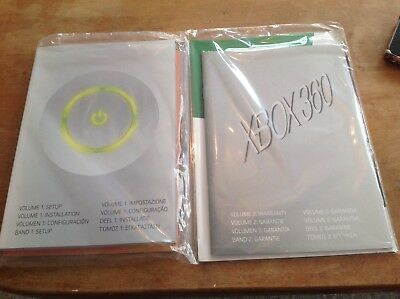 xbox 360 console instruction manual microsoft new & sealed