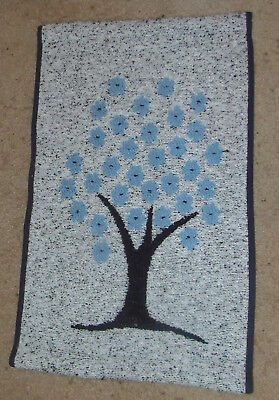 Kuvakudos Picture Weave Wall Hanging Sinikukat (Blue Flowers) Blue And White