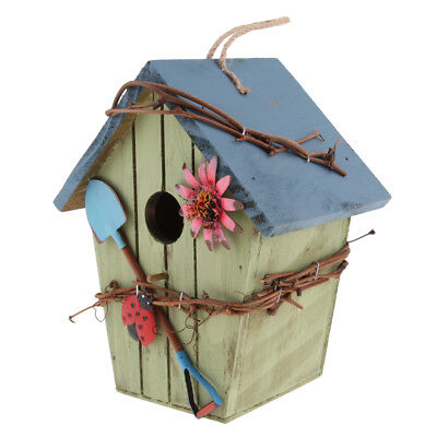 Rural Style Decorative Hanging Bird House Insect Hotel For Garden Balcony D