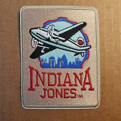 Indiana Jones Plane Retro Patch 3 inches wide 4 inches tall