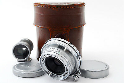 """""""Rare""""[Excellent] Canon Serenar 35mm f/3.5 for Leica L39 w/Viewfinder From Japan"""