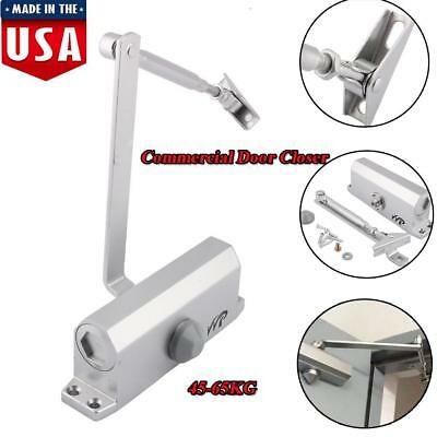 Durable Aluminum Commercial Door Closer Two Independent Valves Control 45-60KG
