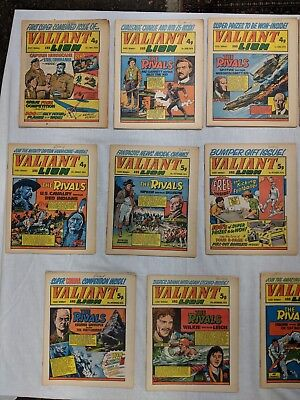 Valiant And Lion Comics 23 Issues From 1974