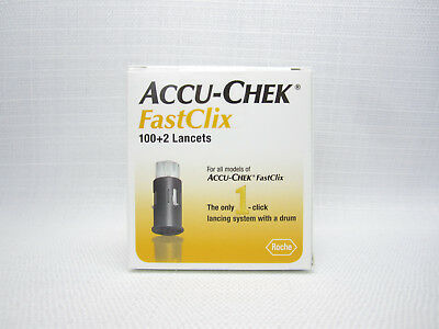 102 Accu-Chek FastClix Lancets Exp 2021 AccuChek Diabetic Test Drum Retail Box
