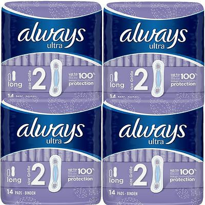 Always Ultra Long Serviettes Hygiéniques Tampons Taille 2 Femme Super Absorbant