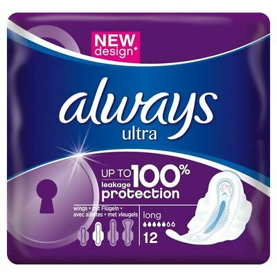 Always Ultra Long Serviettes Hygiéniques Coussinets Taille 2 + Ailes Absorbant