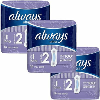 Always Ultra Long Serviettes Hygiéniques Coussinets Taille 2 Femme Super