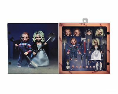 """Child's Play Bride of CHUCKY & TIFFANY 7"""" Scale Ultimate Action Figure 2 PK NECA"""