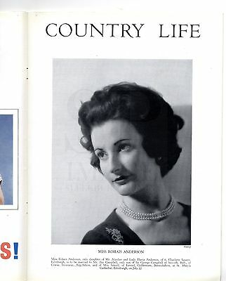 1961 COUNTRY LIFE Magazine RHEIDOL RAILWAY Rohais Campbell ENFORD WILTS (5533)