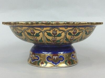 """A Late 19th C. Bencharong Large Gilded Tazza in Excellent Condition - 6.5"""" Ø"""