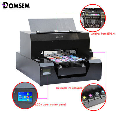 Factory Price A4 size DTG dtg printer direct to garment printer t shirt cloth pr