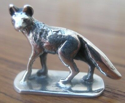 Beautiful Hallmarked Sterling Silver Fox Statue -  Countryside Pursuits Hunting