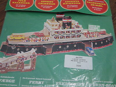 Vintage Do It Yourself Advent Calendar Of A Ferry Made Of Cardboard