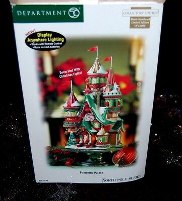Dept 56 North Pole Poinsettia Palace - Hand Numbered 00729 Limited Edition NIB!