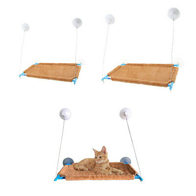 Window Mounted Cat Hammock with Suction Cup Balcony Pet Bed Hanging Resting Seat