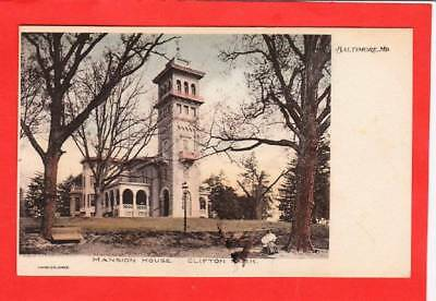 Post card ~ Mansion House Clifton Park Baltimore Maryland  ~ Vintage 4763