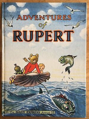 RUPERT BEAR ANNUAL 1950 NOT Inscribed NOT Price Clipped Very FINE & RARE thus!