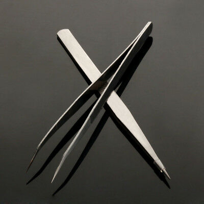 Professional Durable Precision Tweezers Set Stainless Steel Non Magnetic