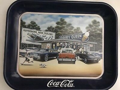COCA-COLA And Dairy Queen Vintage TRAY. Collectible Item For Any Age