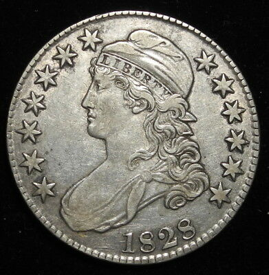 1828 Capped Bust Half Dollar 50C Key Date Better Grade $ Nice Coin!