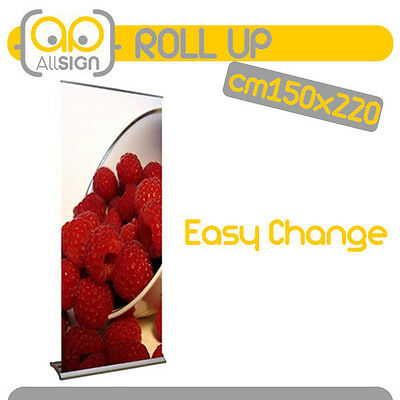 ROLL UP EASY CHANGE 150x220 STAMPA COMPRESA espositori banner rollup roll