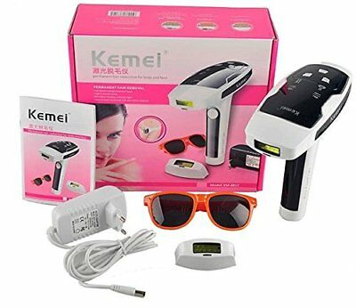 KEMI Plastic IPL Laser Permanent Hair Reduction Whole Body Epilator Bikini Depil