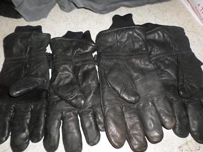 Us Military Intermediate Leather Cold Weather 2 Pair Gloves Sz Xl Men/women Used