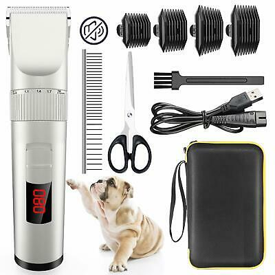 PROFESSIONAL PET GROOMING CLIPPERS Rechargeable Dog Cat Hair Groom Trimming Kit