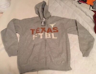 Texas Long Horns Hoodie style pull over   Size  L by Majestic