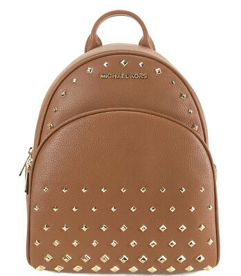 316e34d96153 NWT MICHAEL KORS Abbey Medium Studded Leather Backpack, Brown ...