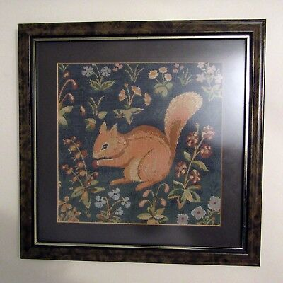 Squirrel Woven Tapestry Framed, L'ecureuil Needlepoint, Lady & The Unicorn