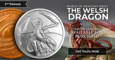 THE WELSH DRAGON 1 oz Silver Round Coin | World of Dragons - #2 of 6 - PRE-SALE