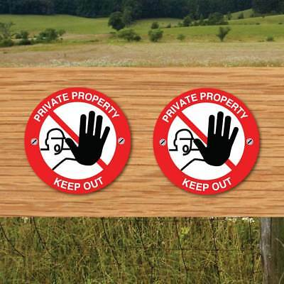 Footpath Arrow Signs, KEEP OUT signs, PRIVATE PROPERTY Signs  WAY MARKER 2 PK