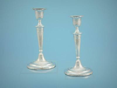 Pair of Candlesticks Adams Style - 925 Silber / Silver - Sheffield 1917 - #1791