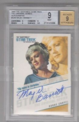 Majel Barrett as Nurse Chapel STAR TREK TOS Quotable Autograph Auto Card #QA6