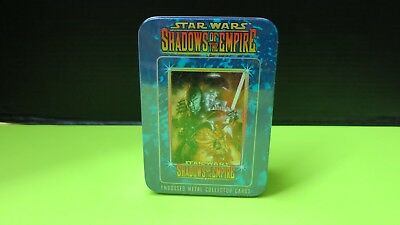 Sealed Tin Star Wars Shadows Of The Empire Embossed Metal Cards Gift Set  New