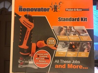 Twist-A-Saw by The Renovator 550W Standard Kit 174 pc Accessory Kit Multipurpose