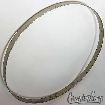 "Broadway Snare Drum Hoop Chrome 14/"" 8 Hole Snare Side Leedy U.S.A"