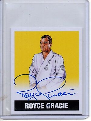 2018 Leaf Legends of Wrestling Yellow Mini Auto ROYCE GRACIE /50 Autograph