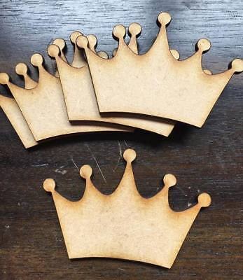 Wooden MDF Crown Blank Plaque Embellishments Craft Decoupage LaserCut pack of 10