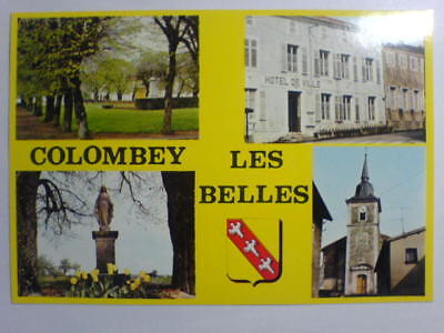 cpa  COLOMBEY LES BELLES  PLACE DARCY, EGLISE.....