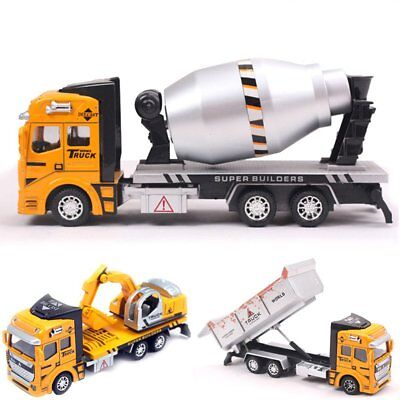 1:48 Pull Back Alloy ABS Metal Car Model Construction Truck Vehicle Toy Kid Gift