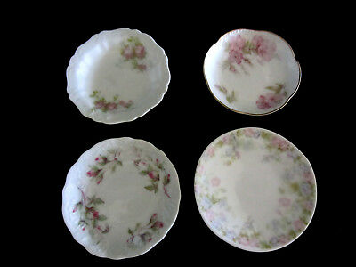 Antique 4 Butter Pats Plates Carlsbad, Limoges, Bavaria All Mint Condition